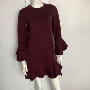 Sugarlips Sweatshirt short Dress with Bell sleeve